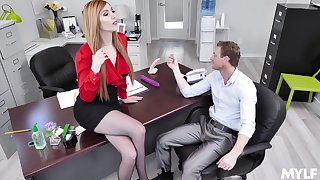Lauren Phillips adores when her boss destroys her cunt in the office