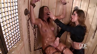 The pain and pleasure are favorite sex mix for a lesbian Cathy Heaven