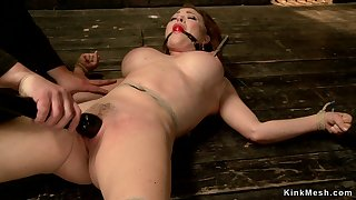 Big melons redhead fingered mainly hogtie